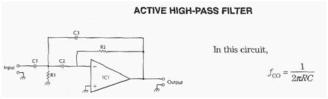 high pass filter active index page