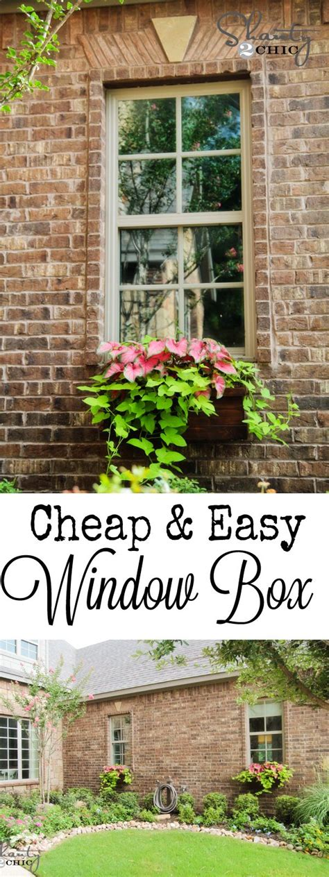 cheap window box planters cheap and easy cedar window boxes these outdoors
