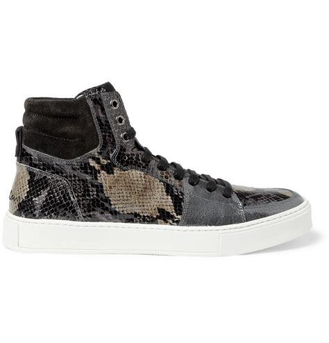 laurent high top sneakers laurent snakeprint patent leather high top sneakers