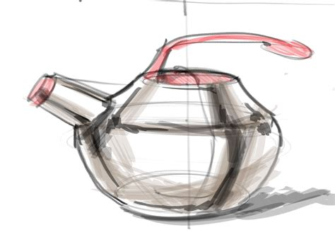 sketchbook rendr id render sketching a tea kettle with some shading
