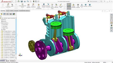 tutorial solidworks engine solidworks tutorial design of two cylinder engine in