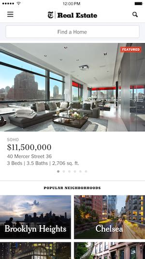 the ny times real estate app gets its big redesign