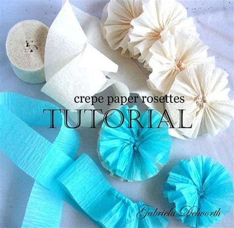paper flower rosette tutorial gabriela delworth designs how to make crepe paper