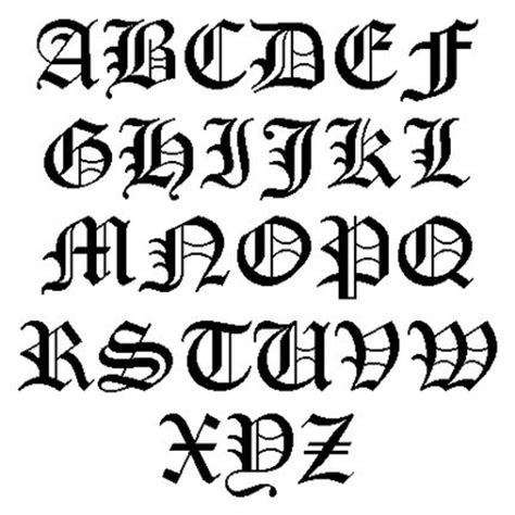 old english tattoo font letters also from a transactional model