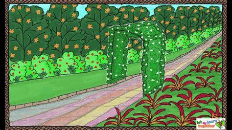 drawing  simple garden   draw  garden drawing