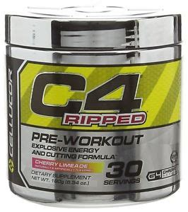 Pre Workout Cellucor C4 Ripped Preworkout Pre Wo 30 Serving cellucor c4 ripped pre workout burner energy loss great flavours ebay