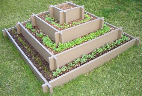 Tiered Strawberry Planter Plans by Pyramid Garden Bed For Herb Garden From Ciliberto S