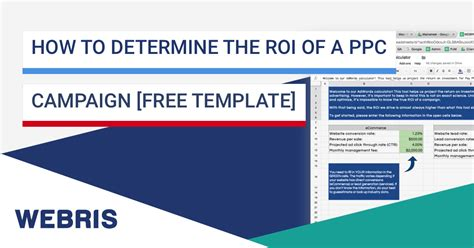 How To Determine Roi Of A Ppc Caign Free Template Ppc Strategy Template