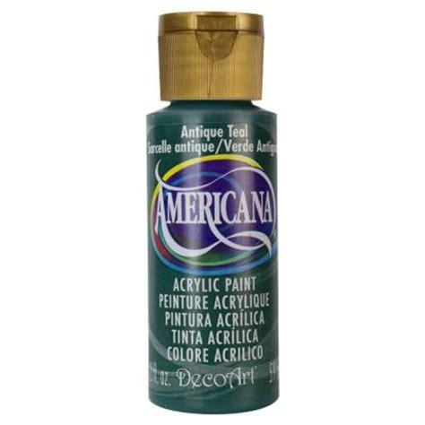 decoart americana 2 oz antique teal acrylic paint da158 3 the home depot