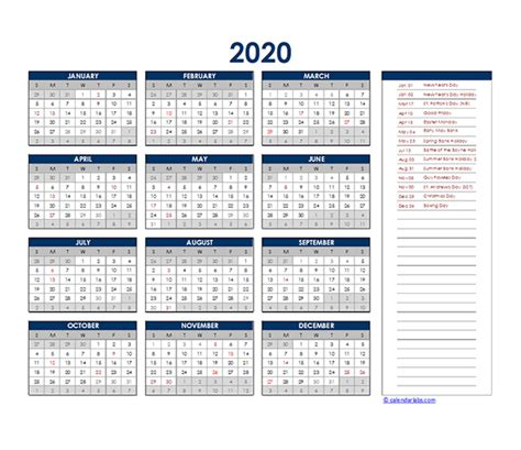 south africa yearly excel calendar  printable templates