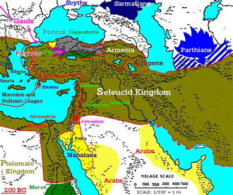 middle east map bc 200 100 bc