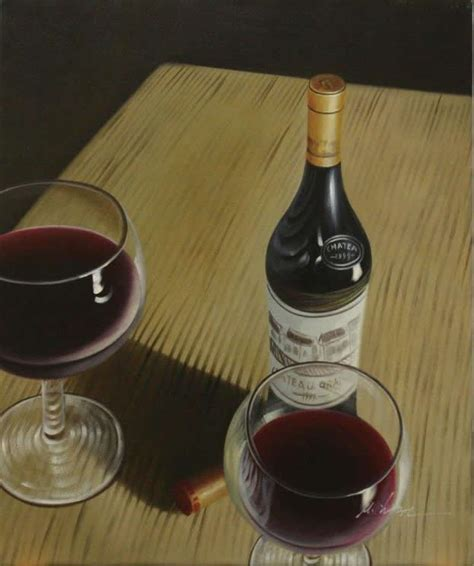 Wine Bottle L by Image Gallery L Chayim Painting Of Wine Bottle Picture