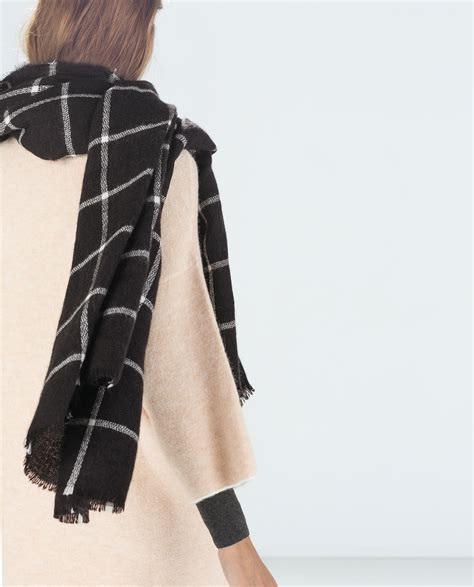 checked scarf accessories zara united states