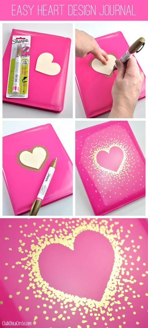 simple design for journal easy heart design journal