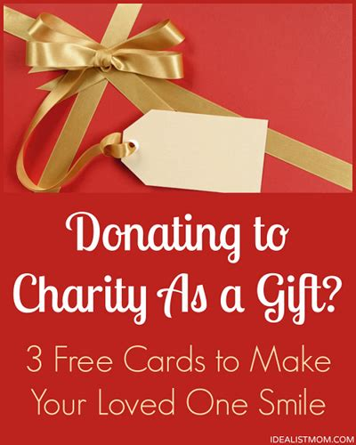 how to donate a christmas gift to a kid donating to charity as a gift 3 cards to make your loved ones smile free cards diy