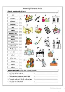 vocabulary matching worksheet worksheet free