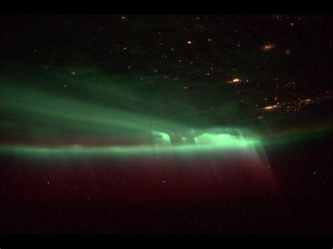 auroras from space pictures northern lights viewed from the international space