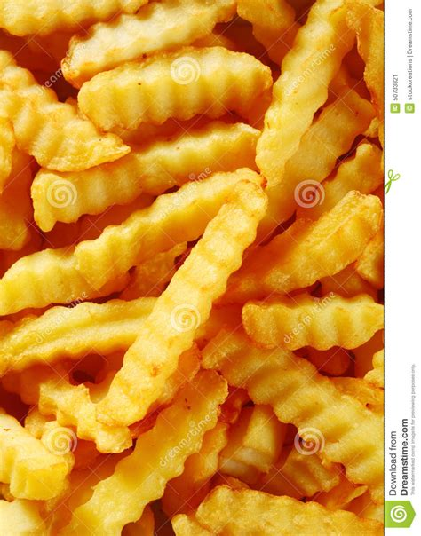 Kentang Crinkle Cut Up Crinkle Cut Golden Fried Potato Fries Stock Photo