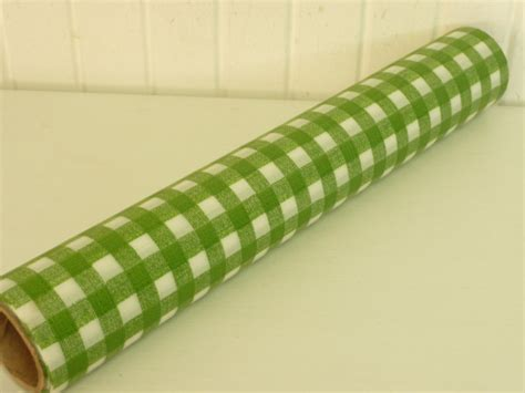 Paper Shelf Liner by Vintage Shelf Liner Paper Roll Green White Gingham 9