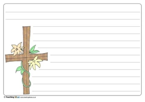 memory cross template easter cross writing template teaching ideas