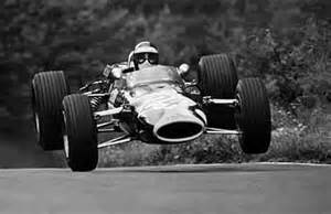 Jim Clark Lotus 49 Jim Clark Airborn In His Lotus At The Ring One Of The
