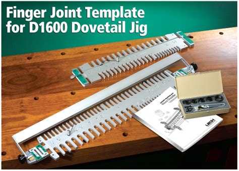 finger joint box joint template for the leigh d1600