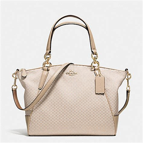 coach f57244 small kelsey satchel in legacy jacquard