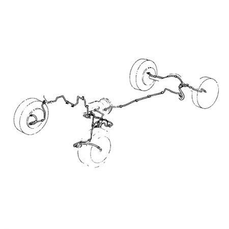 jeep yj brake lines omix ada 16737 50 brake line set 87 95 jeep