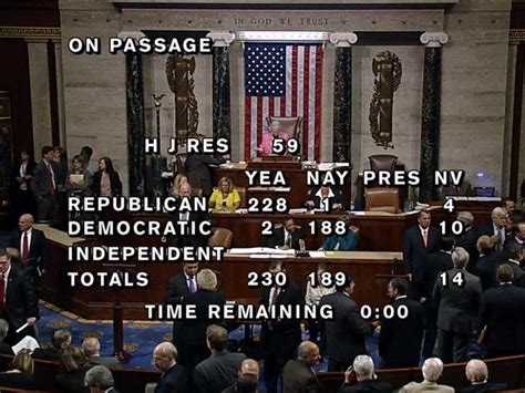 House Votes by Breaking News U S House Of Representatives Passes A Cr