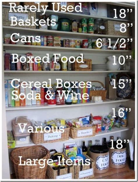 Size Of Pantry by Pantry Shelf Sizes Diy