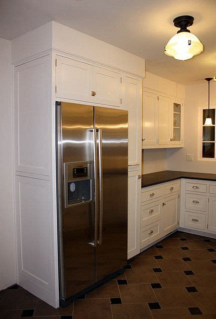 love  cabinet  fridge kitchen soffit diy