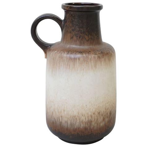 Large Brown Floor Vase by Large West Germany Floor Vase In Brown By Scheurich 408