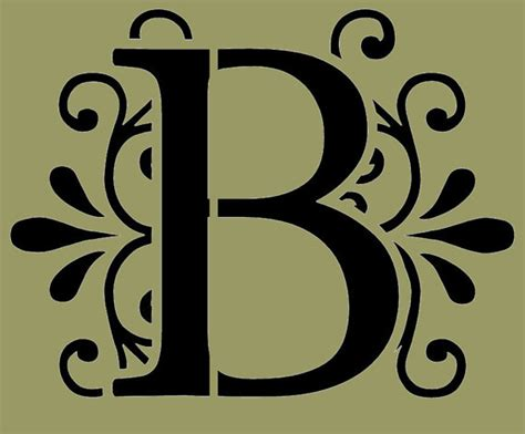 Decorative Letter B by Unavailable Listing On Etsy