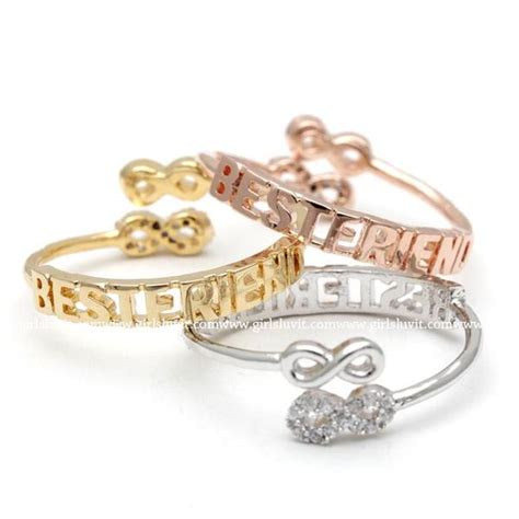 infinity ring best friends best friends infinity ring adjustable 3 colors girlsluv it