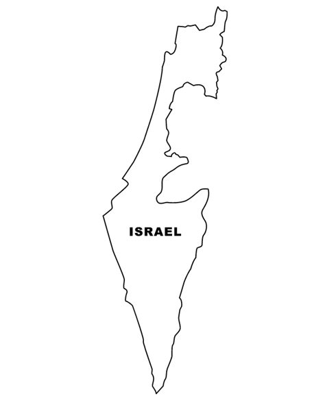 Map Of Israel Coloring Page free coloring pages of map of israel