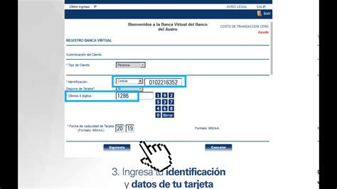 banca virtual 161 conozca c 243 mo crear su usuario en banca virtual youtube