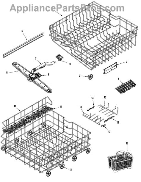 maytag dishwasher parts diagram parts for maytag mdb8751aws rail rack assembly parts