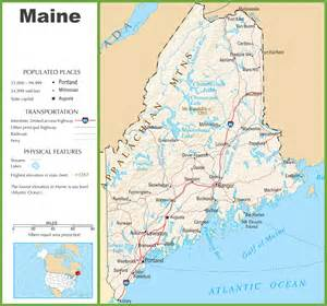 maine highway map