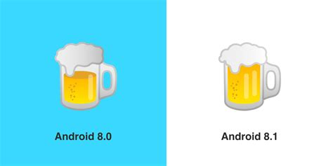beer emoji google gets the burger emoji right in android 8 1