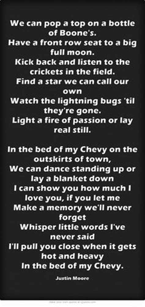 bed of my chevy lyrics favorite country lyrics on pinterest 1249 pins