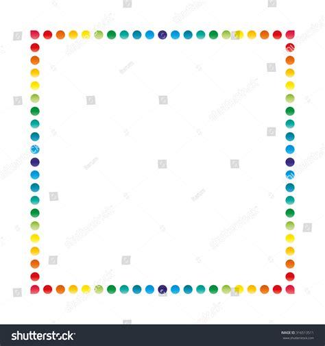 Invitation Letter Format For Paper Presentation Dotted Frame Corner Design Template Invitation Stock Vector 316513511