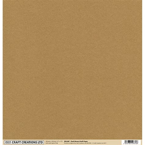 Crafted Paper - 12 x 12 backing paper brown kraft paper