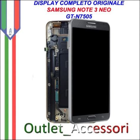 Lcd Note 3 Neo display schermo lcd touch originale samsung note 3 neo n7505 nero