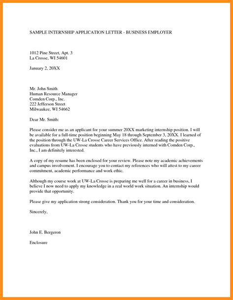 application letter for for 11 how to write an internship application letter