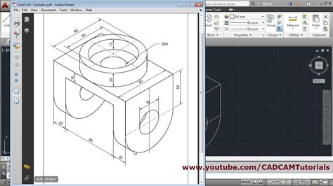 Cad Drawing Online how to draw isometric drawing in autocad youtube