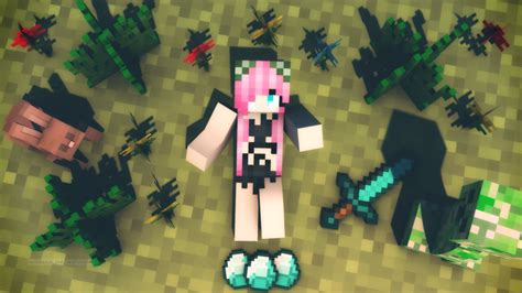 minecraft skin wallpaper luka circus monster minecraft skin wallpaper by