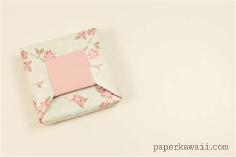 Origami Gift Bow - origami bow gift box tutorial paper kawaii