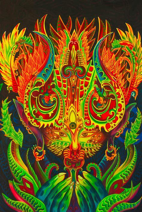 dmt order ayahuasca spirit uv painting handmade on order