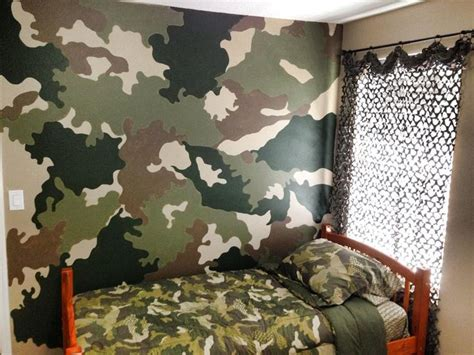 camo accent wall boy s bedroom pinterest accent