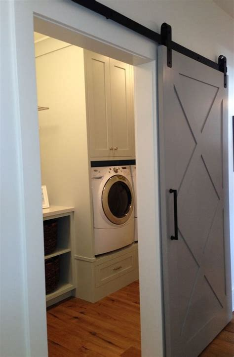 laudable sliding door  laundry room sliding barn door